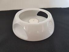Stövchen weiß Porzellan Warmhalterplatte Teewärmer Kaffeewärmer