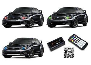 for Subaru Impreza 08-14 RGB Multi Color Bluetooth LED Halo kit for Headlights