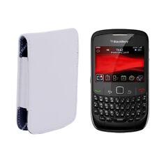 """Funda Piel PU para Blackberry BOLD Carcasa Piel BLANCO """"Envío desde ESPAÑA""""  s75"""