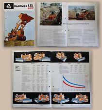 Werbeprospekt Hanomag Hannover K 65 Baumaschinen Lader um 1955 illustriert xz