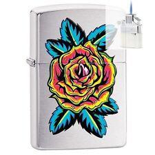 Zippo 29399 Blooming Rose Lighter & Z-PLUS INSERT BUNDLE
