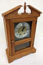 Vintage Wood & Glass Jauch Movement Mantel Clock