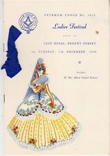 OS036.  Masons. Peckham Lodge. No.1475. Ladies Festival, 1964.