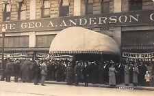 Real Photo Postcard The Geo. A. Anderson Department Store Sale, Canada~111906