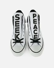 NWOB Converse Chuck Taylor All Star SEEK PEACE High Top Sneakers Size7.5 White