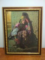 Desert orientalist oil on canvas Etienne Dinet painting on order