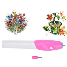 Electric Slotted Paper Craft Paper Quilling Tool Winder Steel Curling Pen DIY PT