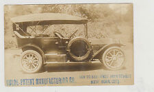 RARE GOLDE-PATENT 1913 AUTO REAL PHOTO PC AT 56TH ST. WEST OF AMSTERDAM AVE, NYC