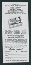 Sales Flyers for Rescinded Wwii Stamps and Block of 9 Stamps