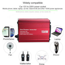 Car Inverter 150W DC 12V to 220V AC Converter with 2.1A Dual USB Car Charger
