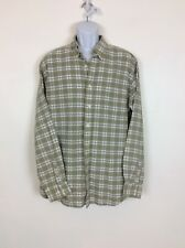 Eddie Bauer Mens Check Shirt Relaxed Fit Sz Tall Large LT Cotton Long Sleeve