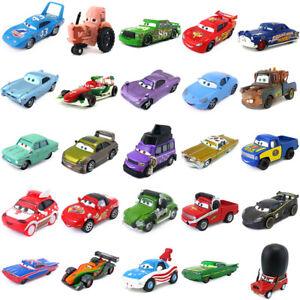 Disney Pixar Cars Lightning McQueen King Tractor Racers 1:55 Diecast Toy Loose