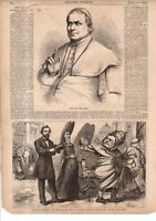 1867 Harpers Weekly - Nast - The Pope banishes Protestants from Rome