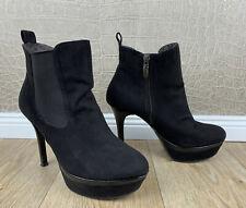 TAMARIS Damen Gr 38 Stiefeletten Ankle Boots Pumps High Heels schwarz Schuhe #K5