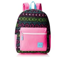 Trailmaker Big Girls BookBag BackPack Pink Black Aztec Geometric Design
