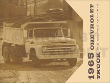 1965 Chevy Truck Engineering Features Manual CK Pickup Van El Camino Big Truck