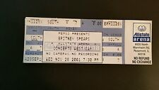 Britney Spears Ticket  11/28/2001 Allstate Arena Chicago WHILE SUPPLIES LAST!