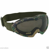 Sahara Eye Goggles Digital Woodland Fox Outdoor Military Tactical Shatterproof