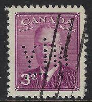 Perfin N20-NLY (New York Life, Toronto): Scott 286, 3c Poste Postage, Position 5
