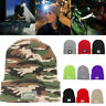 LED USB Rechargeable Knitted Cap 3 Modes Fishing Lighted Beanies Hat Headlamp