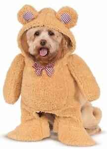 Adorable Walking Teddy Bear Dog Costume Hooded Animal Cat Pet XS SM MD LG XL