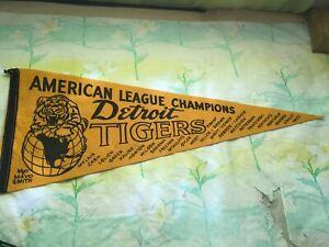 "Vintage Detroit Tigers 1968 AL Champions Pennant 11"" x 29"""