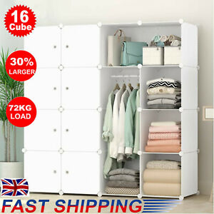 DIY 16 Cube Closet Wardrobe Modular Storage Organizer Clothes Kids Furniture NEW