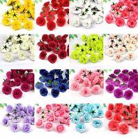 50Pcs Artificial Silk Rose Peony Flower Heads DIY Bulk Craft Wedding Party Decor