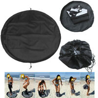 Unisexe Waterproof Surfing Wetsuit Carry Change Plage Mat Nylon Noir Sac Outil