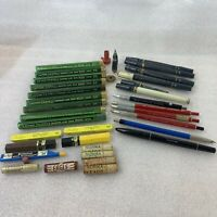 Vintage Drafting Tools Supplies Pencils Pens Erasers Lead Mechanical Mixed Lot
