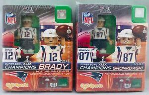 Tom Brady Rob Gronkowski Super Bowl XLIX 49 Mini Figures New England Patriots
