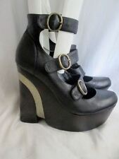 Womens JEFFREY CAMPBELL PLATFORM WEDGE High Heel Shoes 9 BLACK Stripe
