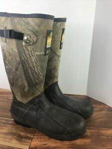 Game Winner Scent Free 400gr Thinsulate Ultra Men's Boots Camo Rubber Size 10