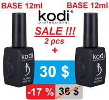 SALE! 2pcs! 12ml. Rubber BASE + BASE Kodi Professional Gel LED/UV Coat Original