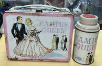 Campus Queen Vintage Metal Lunchbox With Thermos 1967 Magnetic Game