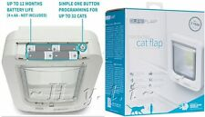 White GENUINE Sureflap Large Catflap 32 Microchip IDs Big Cat Small Dog