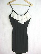 Bracewell Size 6 8 Black and White Silk Semi-Formal Sundress