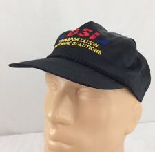 Vtg DSI Transportation Software Solutions Snapback Hat Satin Black Trucking
