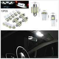 13in1 Car Door Interior White LED T10&31mm Festoon Map Dome License Plate Lamps