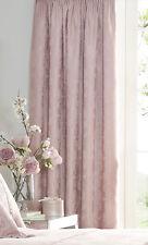 """66"""" X 72"""" Katherine Rose Rideaux Floral Jacquard Rose poudrée doublés Crayon Plis"""