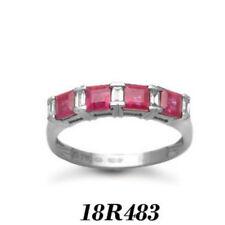 Sehr gute echte Diamanten Ringe mit Rubin