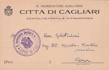 A9057) WW1 MARINA FRANCHIGIA R. INCROCIATORE AUSILIARIO CITTA' DI CAGLIARI.