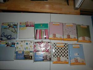 Lot of 11 Crib Sheets - Mixed Colors & MIxed Brands