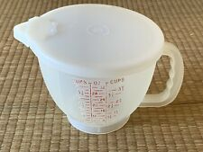 Tupperware 4 Cup 1 Liter Batter Bowl Measuring Cup Pitcher with Lid VINTAGE 1977