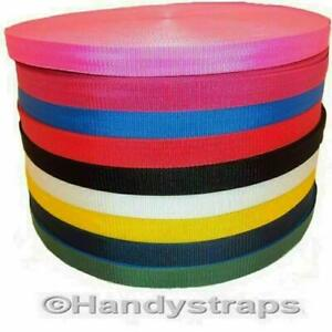 Polypropylene 20mm ,25mm ,40mm ,50mm Webbing Color Tape Strap Lead Narrow Fabric