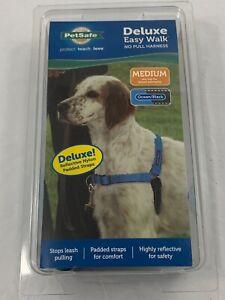 PetSafe Deluxe EasyWalk No Pull Harness Medium DOG Ocean Black Reflective Nylon