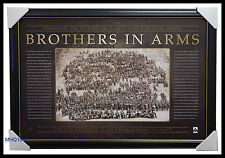 Anzac War Print Framed - Brothers in Arms WW1 Official War Memorabilia $299