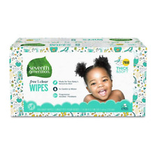 Seventh Generation Baby Wipes, Free & Clear Unscented and Sensitive,768 count