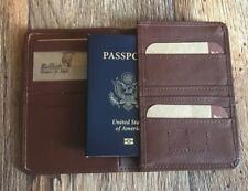 Passport Cover Brown Genuine Leather Wallet Cover For Passport Bifold Handmade