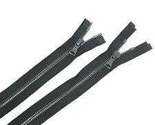 Glossy 5MM or 8MM Teeth Black/Gun Metal Two-Way Open Bottom Jacket Zipper